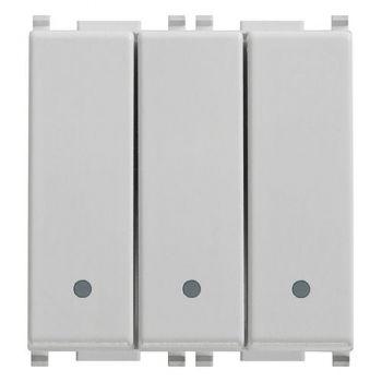 Intrerupator triplu cap scara 1P 20AX switches Silver vimar Plana Silver 14007-SL