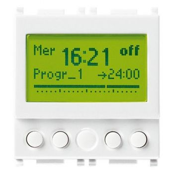 1-channel timer switch 120-230V white vimar Plana 14448