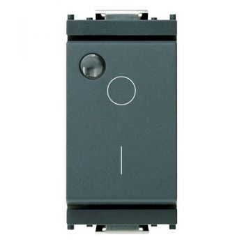 Intrerupator 2P 16AX 0-1 luminous grey vimar Idea 16036