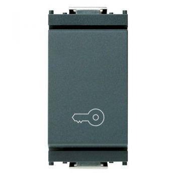 Buton 1P NO 10A push key symbol grey vimar Idea 16080-P