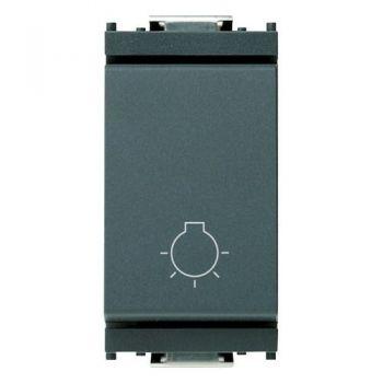 Buton 1P NO 10A push light symbol grey vimar Idea 16081