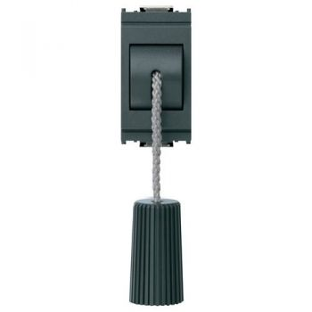 Buton cu snur 1P NC 10A cord-operated push grey vimar Idea 16083