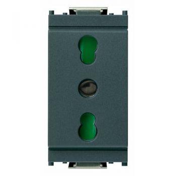 Priza 2P-plus-E 16A P17-11  outlet grey vimar Idea 16203