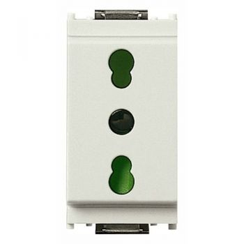 Priza 2P-plus-E 16A P17-11  outlet white vimar Idea 16203-B