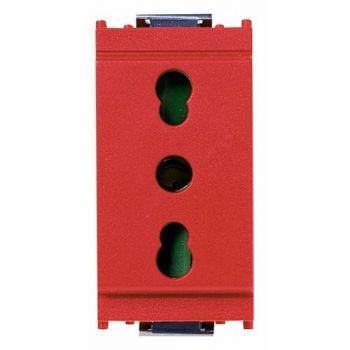 Priza 2P-plus-E 16A P17-11  outlet red vimar Idea 16203-R