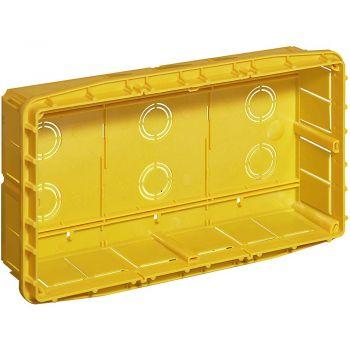 Bticino Multibox - Doze Multifunctionale Doza Deriv Incastr 289x154x69mm pt 3 compartimente cu capac si suruburi 16207