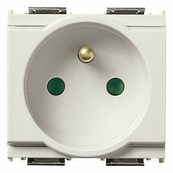 Priza 2P-plus-E 16A French SICURY outlet white vimar Idea 16212-B