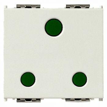 Priza 2P-plus-E 16A English SICURY outlet white vimar Idea 16258-B