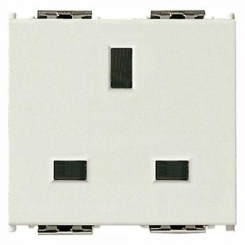 Priza 2P-plus-E 13A English SICURY outlet white vimar Idea 16260-B