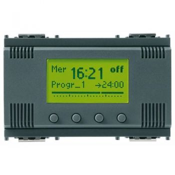 1-channel timer switch 120-230V grey vimar Idea 16582