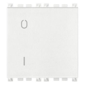 Intrerupator 2P 16AX 0-1 2M white Vimar Arke White 19015-2-B