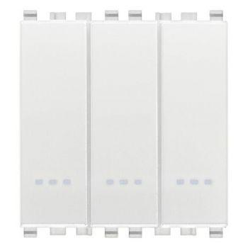 Intrerupator triplu 1P 20AX 1-way switches white Vimar Eikon White 20003-B