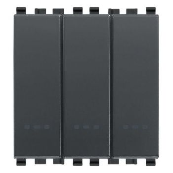 Intrerupator triplu cap scara 1P 20AX switches grey vimar Eikon 20007