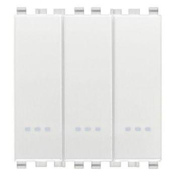 Intrerupator triplu cap scara 1P 20AX switches white Vimar Eikon White 20007-B