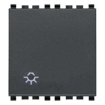 Buton cu revenire 1P NO 10A Light symb 2M grey vimar Eikon 20008-2-L