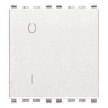 Intrerupator 2P 16AX 0-1 2M white Vimar Eikon White 20015-2-B