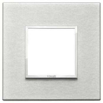 Rama 2M aluminium Next grey vimar Eikon EVO 21642-02