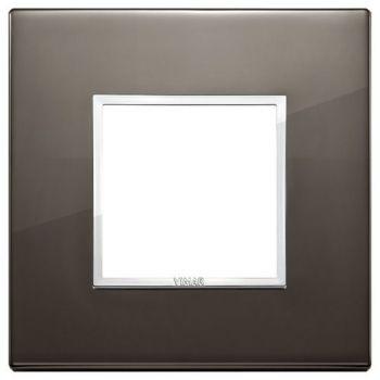 Rama 2M aluminium black sapphire vimar Eikon EVO 21642-06