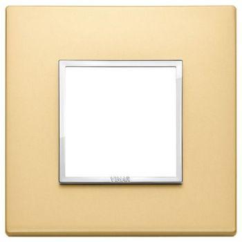 Rama 2M aluminium satin gold vimar Eikon EVO 21642-10