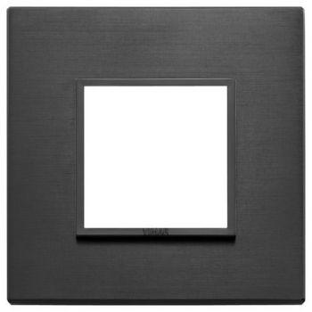Rama 2M aluminium total black vimar Eikon EVO 21642-18
