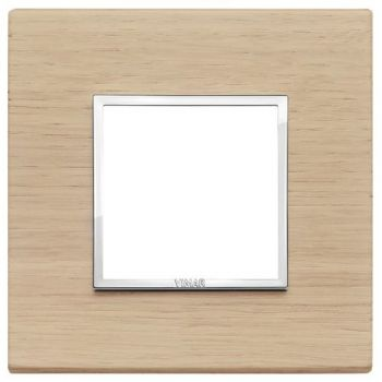 Rama 2M wood white oak vimar Eikon EVO 21642-32