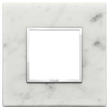 Rama 2M stone Carrara white vimar Eikon EVO 21642-51
