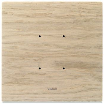 Rama 2M wood white oak vimar Eikon TACTIL 21662-32
