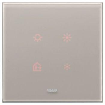 Rama 2M crystal pearl grey vimar Eikon TACTIL 21662-73