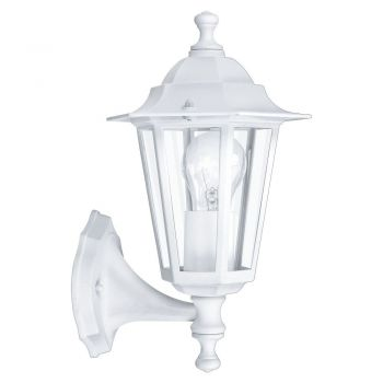 Corpuri de iluminat exterior Aplica Varf In Sus 1 Bec Alb 'Laterna5' Eglo 22463