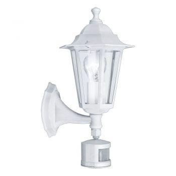 Corpuri de iluminat exterior Aplica Cu Senzor Varf In Sus 1 Bec Alb ' Eglo 22464
