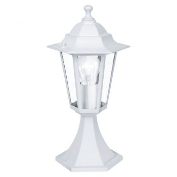 Corpuri de iluminat exterior Stalp  1 Bec E27 Alb 'Laterna5' Eglo 22466
