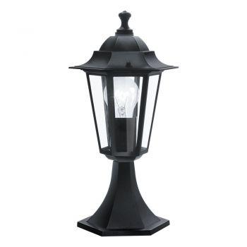 Corpuri de iluminat exterior Stalp  1 Bec E27 Negru 'Laterna4' Eglo 22472