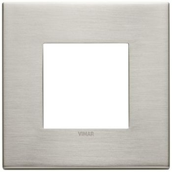Rama 2M metal brushed nickel vimar Eikon EXE 22642-11