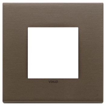 Rama 2M metal brushed dark bronze vimar Eikon EXE 22642-12
