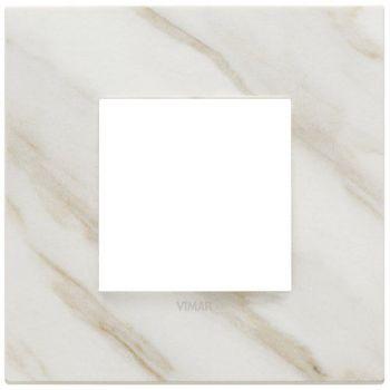 Rama 2M marbl stoneware white Calacatta vimar Eikon EXE 22642-51
