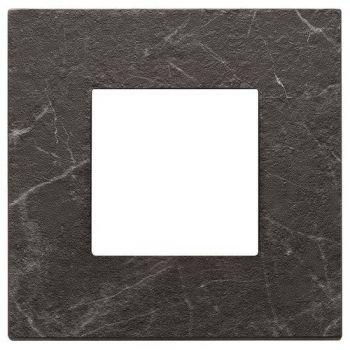 Rama 2M marbl stoneware black Marquina vimar Eikon EXE 22642-53