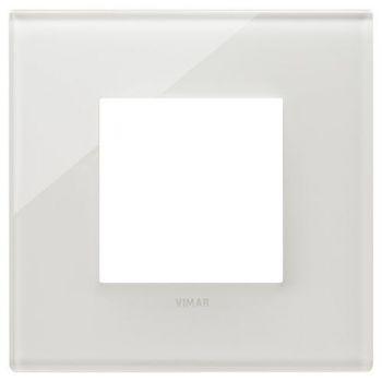Rama 2M glass milky white vimar Eikon EXE 22642-71