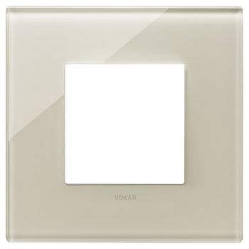 Rama 2M glass Canvas white vimar Eikon EXE 22642-72