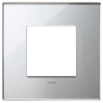 Rama 2M mirror glass ice silver vimar Eikon EXE 22642-75
