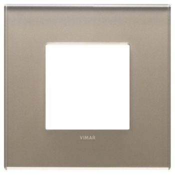 Rama 2M mirror glass opal brown vimar Eikon EXE 22642-77