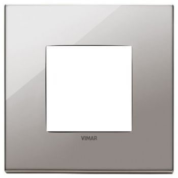 Rama 2M metal black chrome vimar Eikon EXE 22642-83