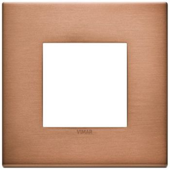Rama 2M metal brushed copper vimar Eikon EXE 22642-86