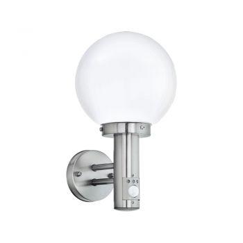 Aplica exterior EGLO NISIA 27126 - E27 1X60W IP44 - Sticla - Inox