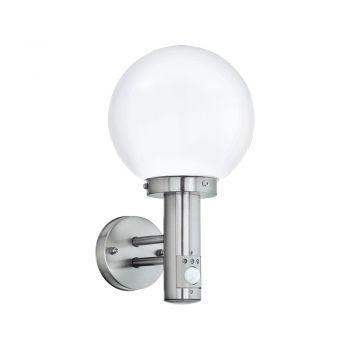 Corpuri de iluminat exterior Aplica Exterior Cu Senzor 1 Bec E27 Inox Eglo 27126