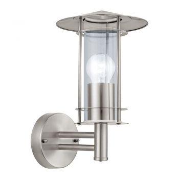 Corpuri de iluminat exterior Aplica 1 Bec E27 Inox-Clar 'Lisio' Eglo 30184