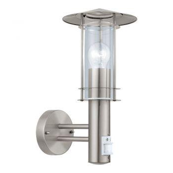 Aplica exterior EGLO LISIO 30185 - E27 1X60W IP44 - Sticla - Inox