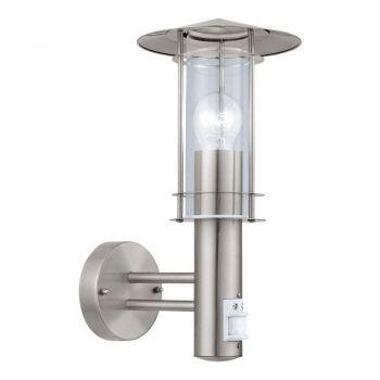 Corpuri de iluminat exterior Aplica 1 Bec E27 Cu Senzor Inox-Clar 'Li Eglo 30185
