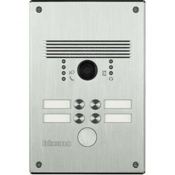 Bticino Videointerfonie 2 Fire Pulsantiera antivandalo 1-4 pb alluminio 308001