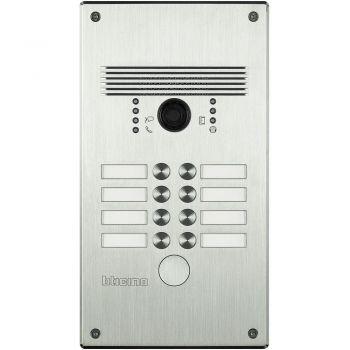Bticino Videointerfonie 2 Fire Pulsantiera antivandalo 5-8 pb alluminio 308002