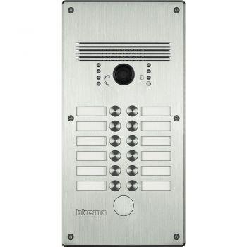 Bticino Videointerfonie 2 Fire Pulsantiera antivandalo 9-12 pb alluminio 308003